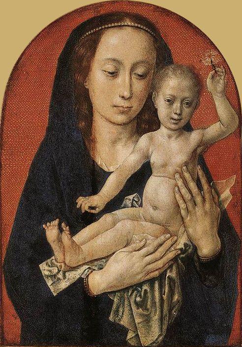 Hugo van der Goes - Mary with child - Хуго ван дер Гус — Википедия Hugo van der Goes - Mary with child.jpg Создано: около 1478
