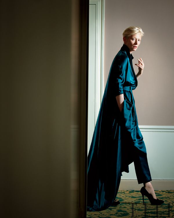 Tilda Swinton wearing Ackermann. Photo: Jeff Burton #fashion