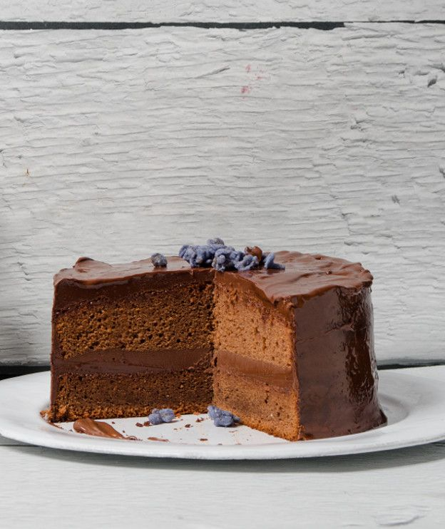 Κέικ σοκολάτας με γκανάς