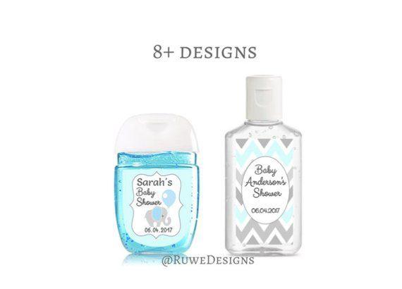 Custom Bridal Shower Favor Labels Mini Hand Sanitizer Pocketbac