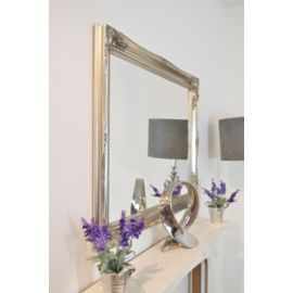 Buy Large Silver Antique Ornate Design Big Wall Mirror New 3Ft6 X 2Ft6 106Cm X 76Cm from our Bedroom Mirrors range - Tesco