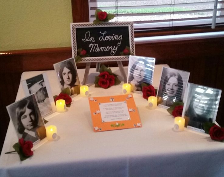 in memory table for deceased classmates class reunion ideasmemory tablefuneral ideasmemorial ideashigh
