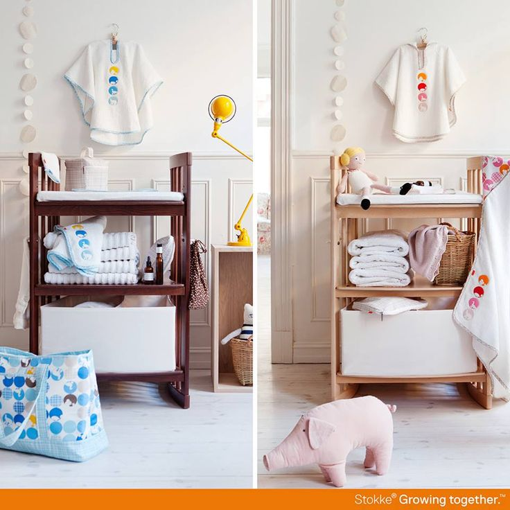 Stokke Care Changing Table in Walnut and Natural –which would you pick for your dream nursery space?