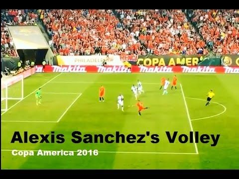Great Volley Goal by Alexis Sanchez for Chile! (Copa America 2016)