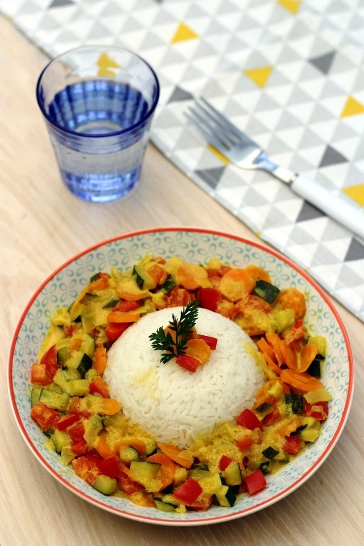 Légumes au lait de coco et curry - 3SP Weight Watchers