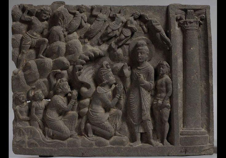 Submission of Apalāla. Taxila Museum. Gandhara