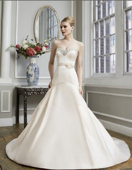 Бесплатная доставка свадебные платья гала свадебные платья романтический flare вышитые бисером милая цветок sash свадебное платье свадебное платье