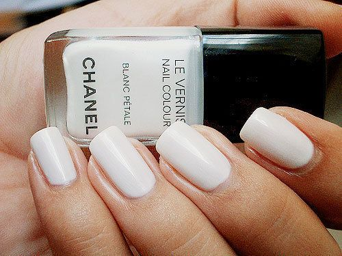 : Nail Polish, Style, Makeup, Nailpolish, White Nails, Beauty, Hair, Nail Art