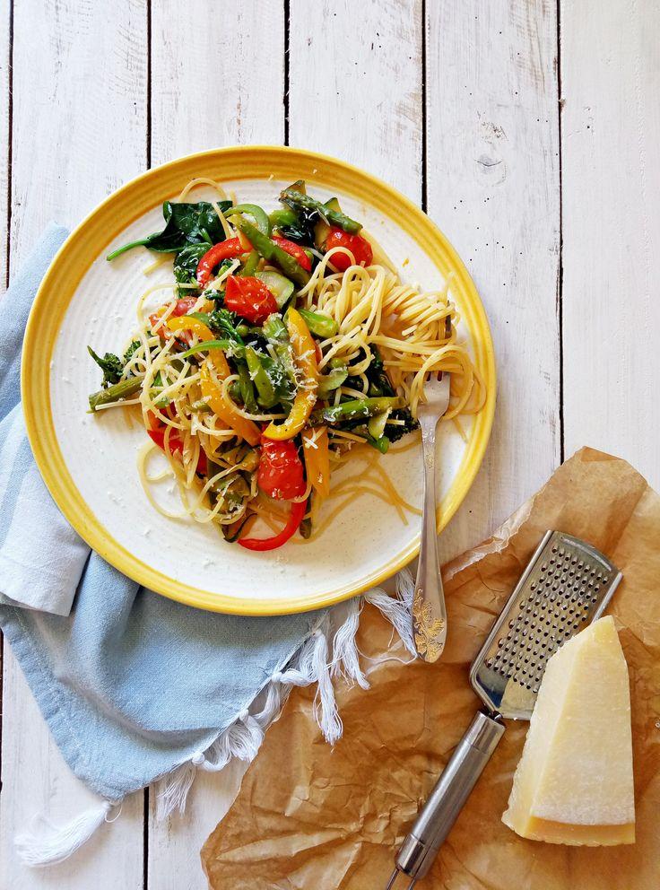 Como Hacer Pasta Primavera+Sorteo #sorteo #giveaway #recipe #pasta #vegetarian