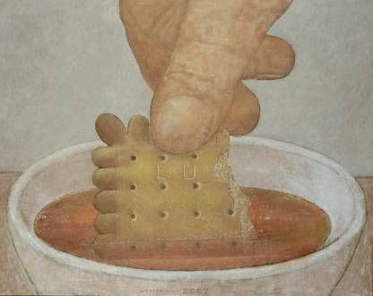 Koekje in de thee (2) .2007.olieverf, tempera en alkyd op doek