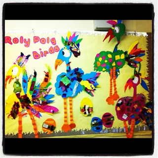 Roly Poly Birds display from Miss Ward's Classroom