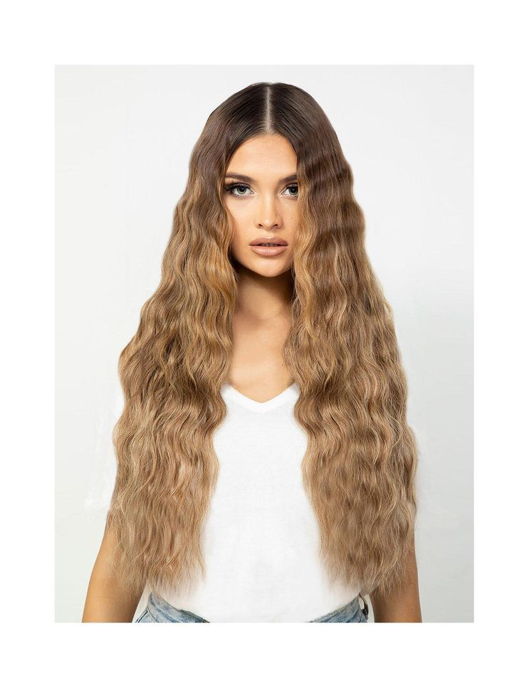 Beauty Works Double Hair Set Beach Wave 22 Inch 100% Remy Hair in L.A. Blonde