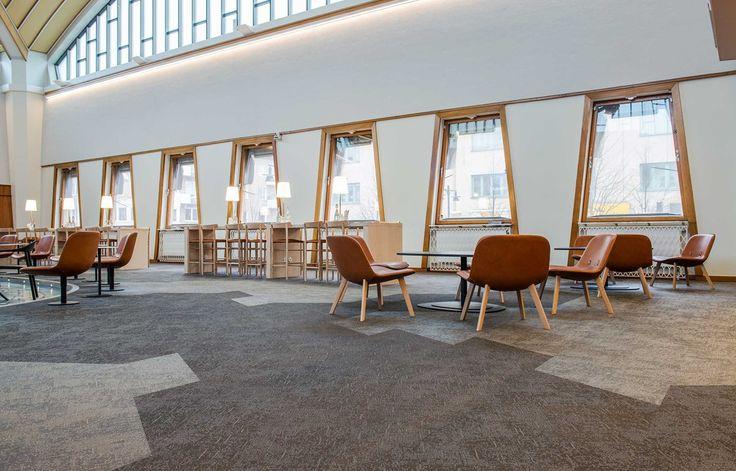 Bolon flooring in Vetenskapens Hus in Luleå, Sweden