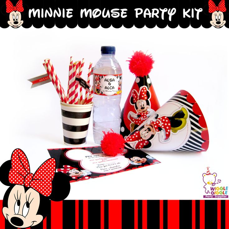 Minnie Mouse Party Kit Visit us at www.wigglegiggle.com