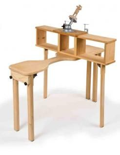 Sturdy carving bench packs easily for travel.  Includes a 3D SketchUp model (free SketchUp viewer or program required to view).     From WCI 58!   http://www.woodcarvingillustrated.com/features/folding-carving-bench.html