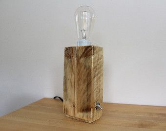 Edison Wood Box Desktop Lamp by AmbientWood on Etsy