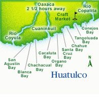 Map of Huatulco, Mexico #travel