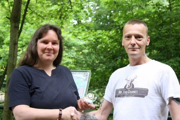 Overhandiging Award aan Kasteelpark Born