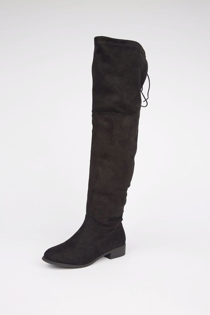 Get your winter wardrobe ready with our Keira Knee High Boots. The color is versatile, pairing perfectly with dresses or skinny jeans! Complete with drawstring ties in the back, a padded insole, and r