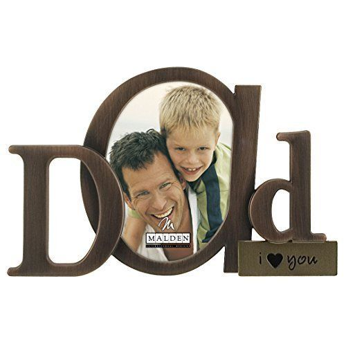 Art Designs Bronze Script Dad Picture Frame, 3.5x4.5, Bronze New Father Day Gift #MaldenInternationalDesigns