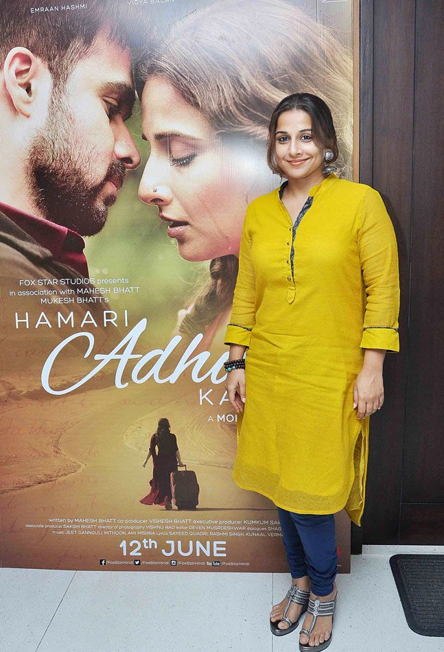 Vidya Balan promoting 'Hamari Adhuri Kahani'. #Bollywood #Fashion #Style #Beauty