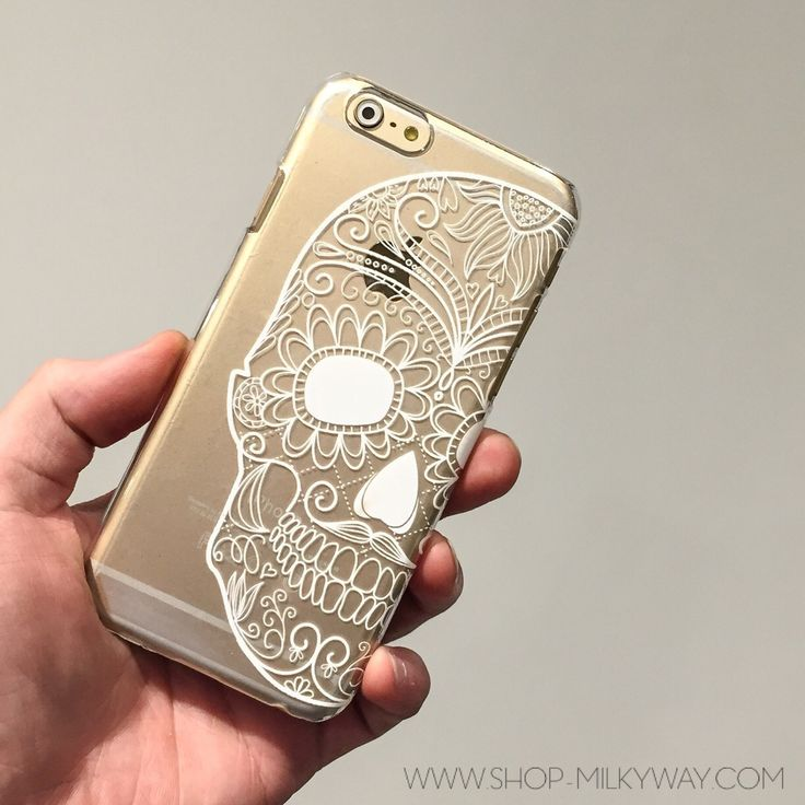 Clear TPU Case Cover - Henna Half Sugar Skull – Milkyway for 6s, or a mandala case (also this site)