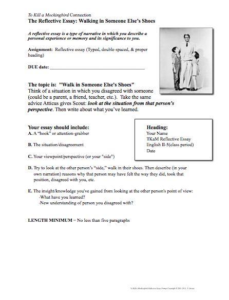 008 To Kill a Mockingbird Writing Activity Creative teaching