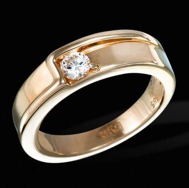 Обручальное кольцо с бриллиантами ED R 10720 RG