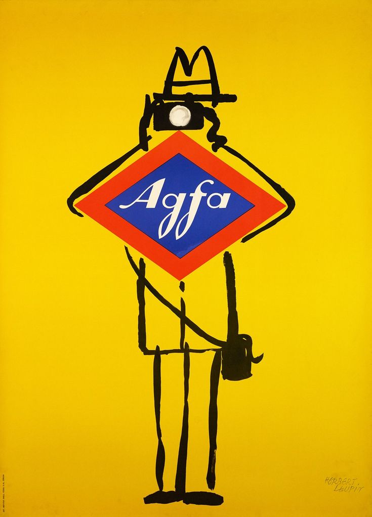 Agfa films  Herbert LEUPIN  Prix de l'affiche suisse 1956