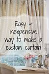 I love custom curtains in a room. The right length, that perfect fabric, a detailed fringe or edging. But special order can be pricey.  I am a custom kind of girl myself over here-and I don't like to spend...