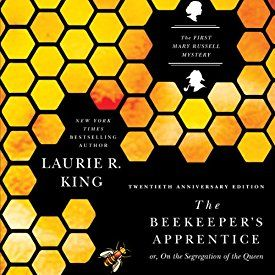 """Another must-listen from my #AudibleApp: """"The Beekeeper's Apprentice, or On the Segregation of the Queen: Mary Russell and Sherlock Holmes, Book 1"""" by Laurie R. King, narrated by Jenny Sterlin."""