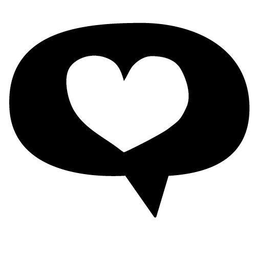 Speak Love // Stempel Tekstballon Hart