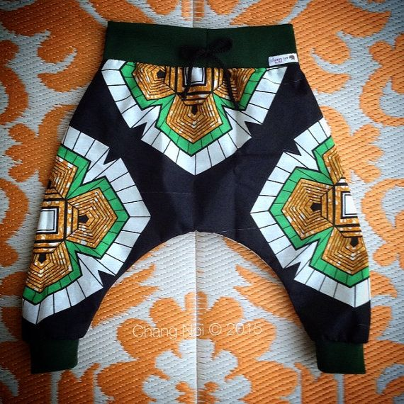 New Season African Wax Print Handmade Harem Pants  by ChangNoii