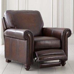 Bassett Hamilton Recliner H 40 x W 38.5 x D 40 in leather starting at $1,499