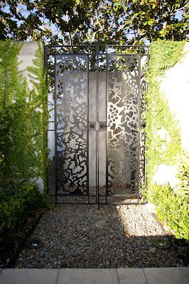 Garden gates - Waterjet foliage design