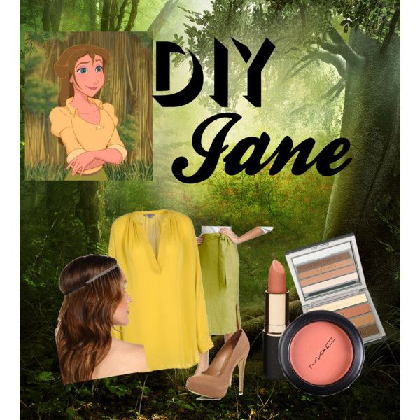 """""""Halloween Costume DIY: Jane from Tarzan"""" by jemsie on Polyvore"""