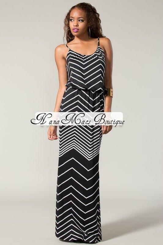 acf97818302 PLUS SIZE Black White Halter Chevron Maxi Dress  49.99 http   www .nanamacs.com plus-size-black-white-halter-chevro…