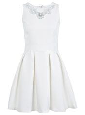 Necklace Trim Skater Dress