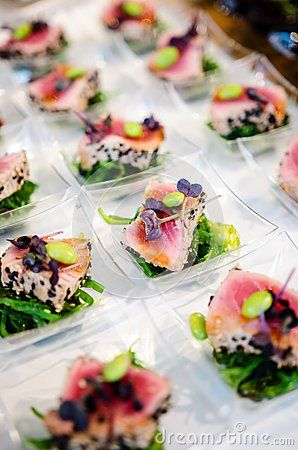 Gourmet catering food