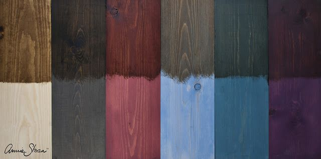 How to create a stain on wood, using Chalk Paint®, decorative paint by Annie Sloan and Dark Soft Wax.