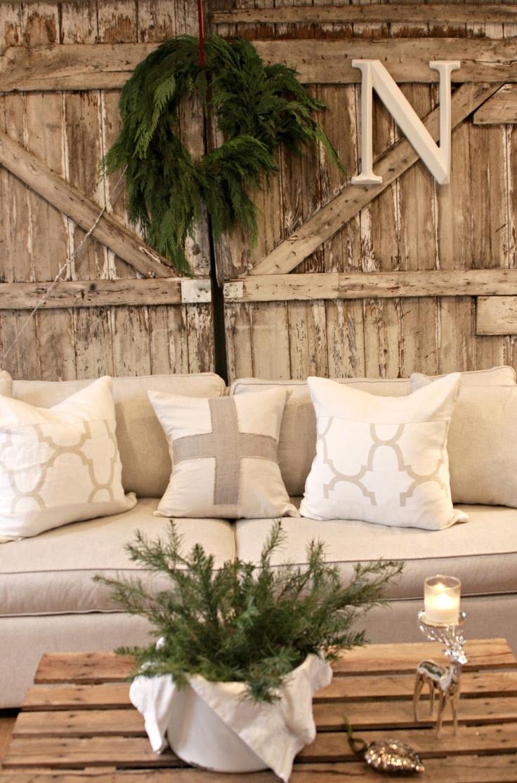 Bring In A Rustic Barn Door For Winter Decoration CLICK HERE Specialtydoors