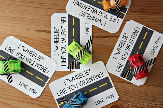 I wheelie like you! - Boy valentine Idea with Free Printable!
