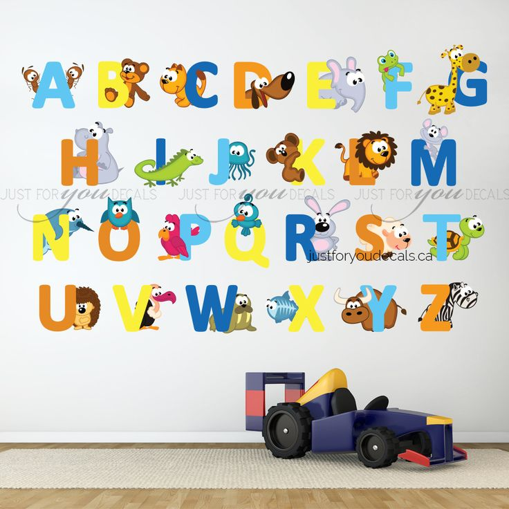 17 best images about alphabet wall decals on pinterest for Alphabet wall mural