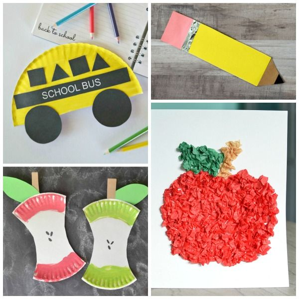 Back To School Crafts For Kids With Images Back To School