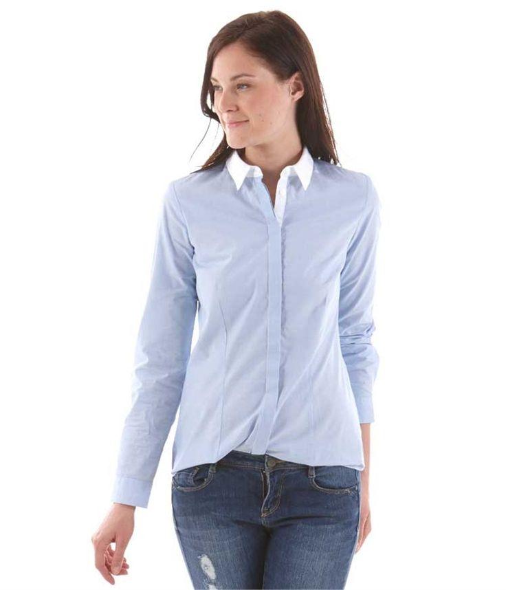 Structured women's blouse - CHEMISIER Womenswear Camaïeu.