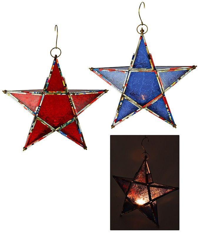 Recycled Star Votive Lantern - Tea Light Holder - Candle Holder - Garden Accents #GreaterGood #StarVotiveLantern #StarTeaLightHolder