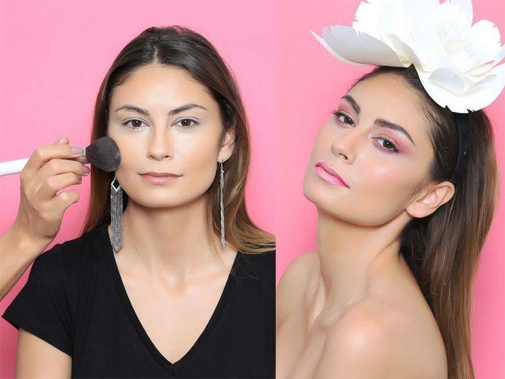 Pink Make-up #pink #flower #bedore&after #alinabrailescu