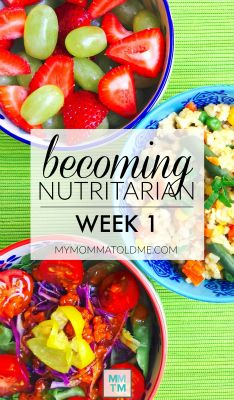Eat to Live Becoming Nutritarian Week 1 BUTTON