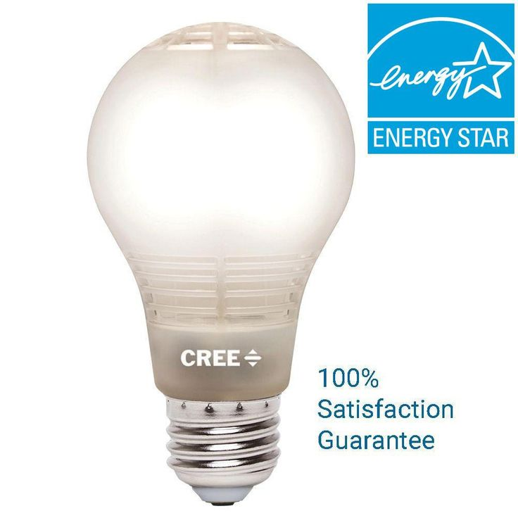 Cree 40W Equivalent Soft White A19 Dimmable LED Light Bulb with 4-Flow Filament Design