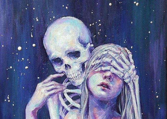 うつ病の女性がうつ病と向かい合うために描き上げた骸骨とのラブコミック : カラパイア